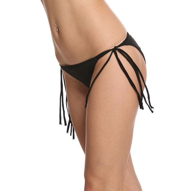 Sexy Booty Cheeky Bikini Micro Mini Shorts Thong Bottom Triangle Low Rise Waist Skinny Short Tassel