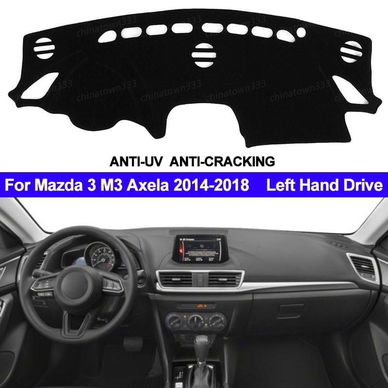 TAIJS Car Dashboard Cover Dash Mat For Mazda 3 M3 Axela 2014 2015 2016 2017 2018 Non-slip Sun Shade Dash Mat Pad Carpet Anti-UV