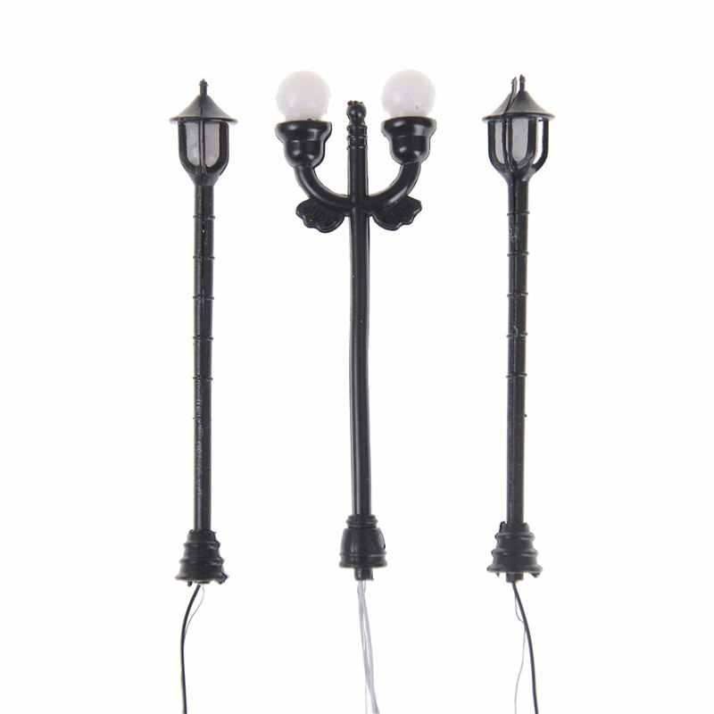 5 sztuk ABS Model ogród u nas państwo lampy czarny Model układ pojedyncza głowa ogród światła latarnia modelu światła światło krajobrazu