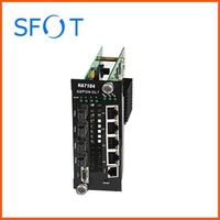 Four port EPON OLT Module Card with EPON PX20 modules