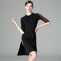 black latin dancing dress samba costume latin dance wear women modern dance costume latin ballroom clothes latin salsa dress