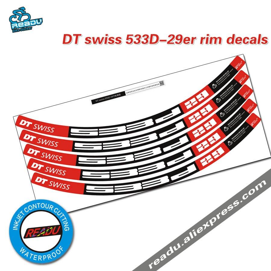 DT 533D 29 pouce montagne de roue de vélo autocollants vélo jante décalcomanies autocollants