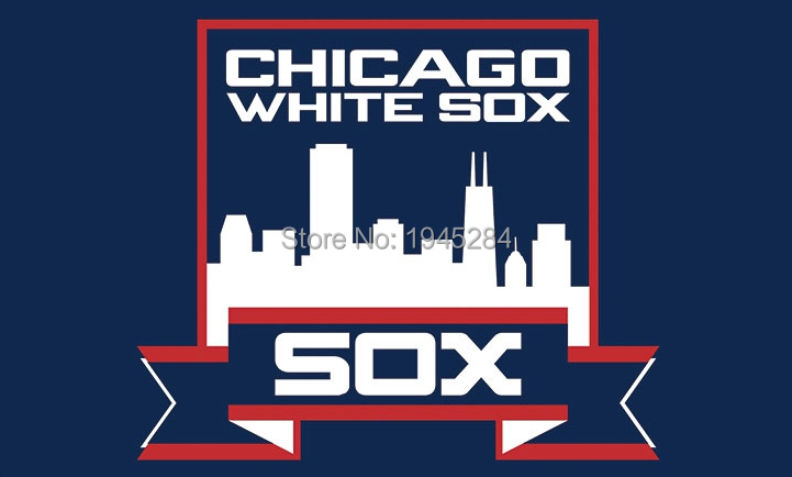 MLB Chicago White Sox City Skyline Flag Banner New 3x5ft 90x150cm Polyester 8801, free shipping
