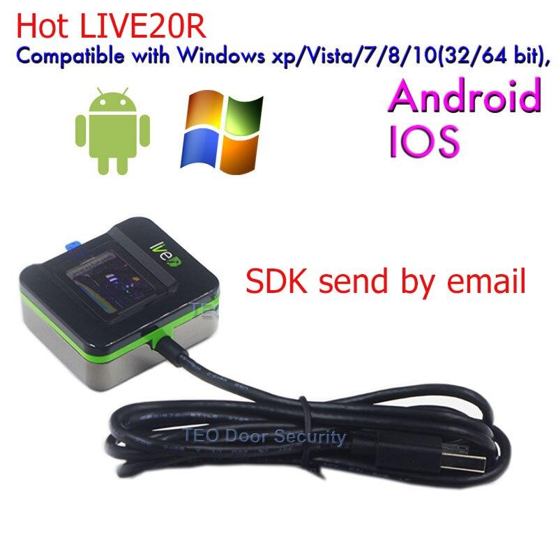 Fingerprint Recognition Device ZK LIVE20R Fingerprint reader support in Win10 software Fingerprint Scanner -