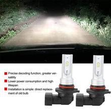 9005 HB3 светодиодный противотуманный светильник лампа высокой мощности CSP-Y11 холодный белый 6000K(упаковка из 2) DC12V 1000LM простая установка