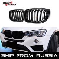 Replacement M color 2 slat Racing Grille for BMW X3 F25 LCI X4 F26 SUV Fornt Bumper Kidney Grill 2015 2016 2017 from Russia