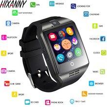 Bluetooth relógio inteligente men q18 com tela de toque grande apoio da bateria tf sim cartão da câmera para android telefone smartwatch reloj men 4g