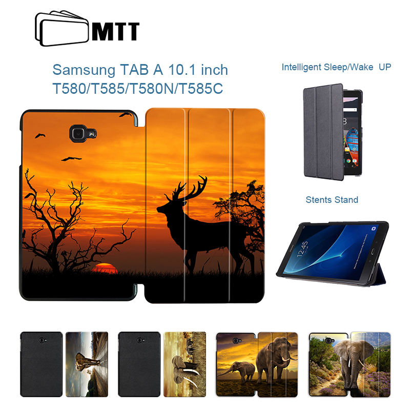 MTT For Samsung Galaxy Tab A6 10.1 2016 T580 Case Elephant Flip PU Leather Cover Case for SM-T580 T580N T585 T585C Tablet Funda