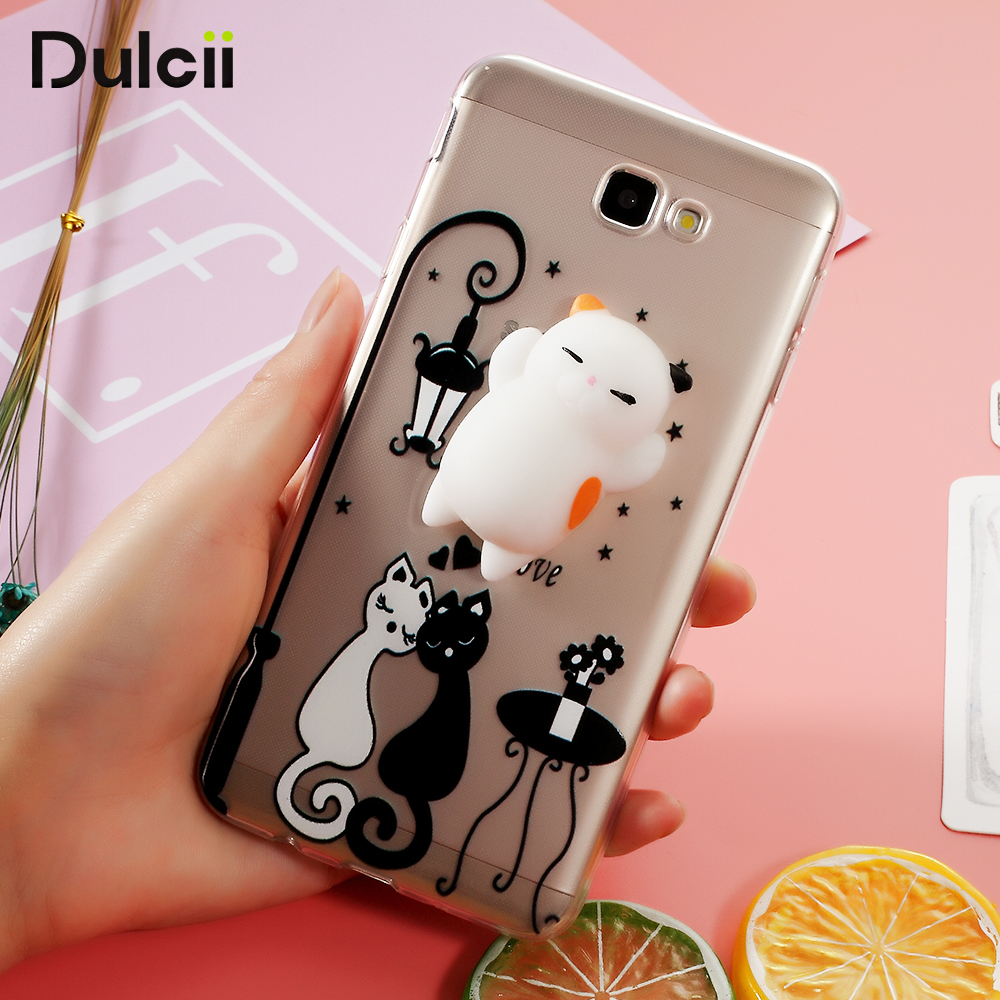 Samsung galaxy j7 for element 3d - 3d Silicone Squishy Cat Tpu Protection Case For Samsung Galaxy J7 Prime Cat
