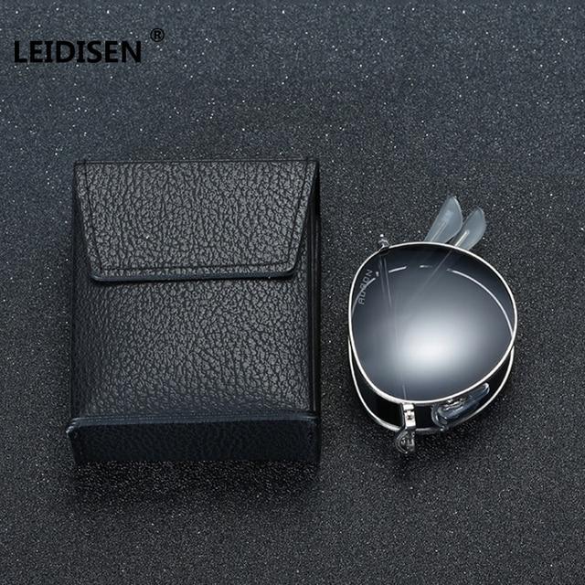 9f5db295d7e LEIDISEN Brand Portable Foldable Folding Sunglasses Polarized Men Women  Fashion Retro Vintage Driving Mirrored Eyewear