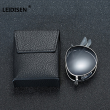 LEIDISEN Brand Portable Foldable Folding Sunglasses Polarized Men