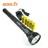 BORUIT 22000LM XML T6 светодиодный фонарь факел тактический фонарь высокой Мощность лампа Водонепроницаемый Фонари Охота Кемпинг рыбы