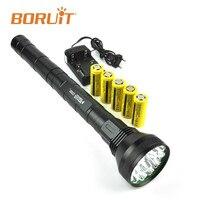 BORUIT 22000LM XML T6 Linterna Led Flashlight Torch Tactical Flashlight High Power Lamp Waterproof Lantern Hunting Camping Fish