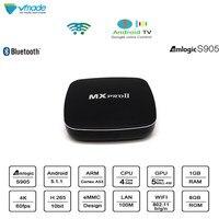 Vmade MXPROII 1 + 8 Гб четырехъядерный процессор Amlogic S905 Мини ТВ приставка UHD 4K Android 5,1 ОС Восьмиядерный WiFi медиаплеер Google TV телеприставка
