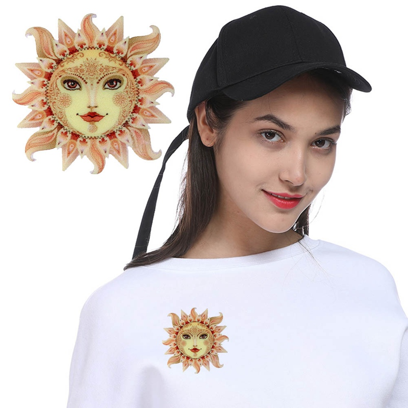2018 new Acrylic Printing Brooch Sun Moon Brooches Cute Brooch Animal Jewelry For Women Best Special Gift