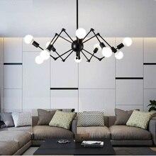 Candelabro de Luz Retro nórdico moderno Vintage Loft antiguo ajustable DIY E27 arte araña lámpara de techo accesorio de luz
