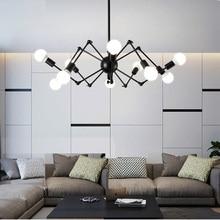 Mordern lámpara de techo Estilo nórdico Retro, lámpara de techo con diseño de araña, ajustable, Estilo Vintage, E27