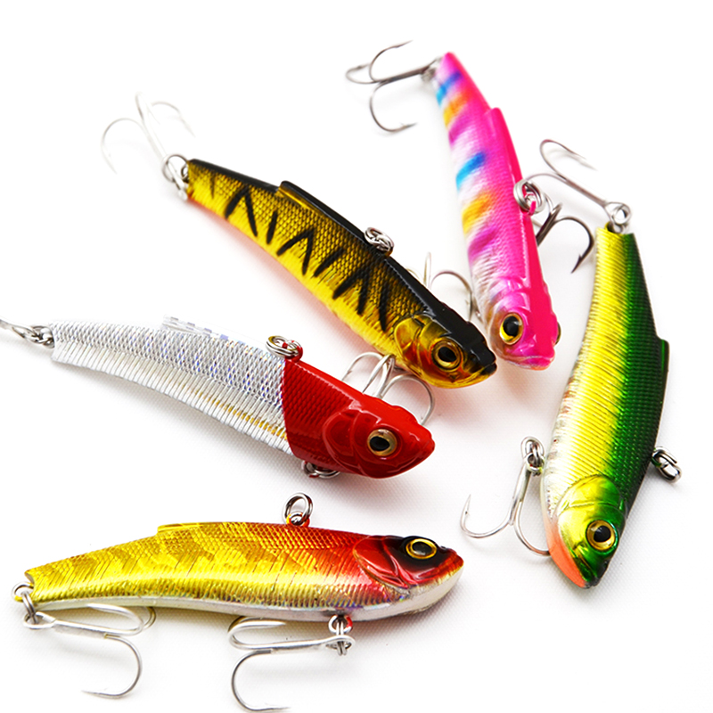 High Quality 8color 70 mm 16.5g Shake VIB Wobbler joshëse Lulet e forta Baits artificiale Baits artificiale Swimbait Peshkimi Lures Peshkimi