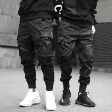 2020 Hip Hop Boy Multi-pocket Elastic Waist Design Harem Pant Men Streetwear Punk Casual Trousers Jogger Male Dancing Black Pant cheap VOLGINS Pencil Pants Flat Polyester COTTON Pockets REGULAR Full Length Midweight Broadcloth Chinese Size Man Men Male Teenagers