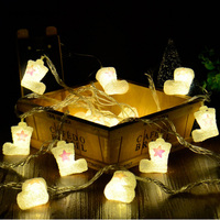 YINGTOUMAN Cute Chrismas Boots Plugs Type Lamp LED String Light Christmas Holiday Wedding Party Decoration Lighting 5m 30LED