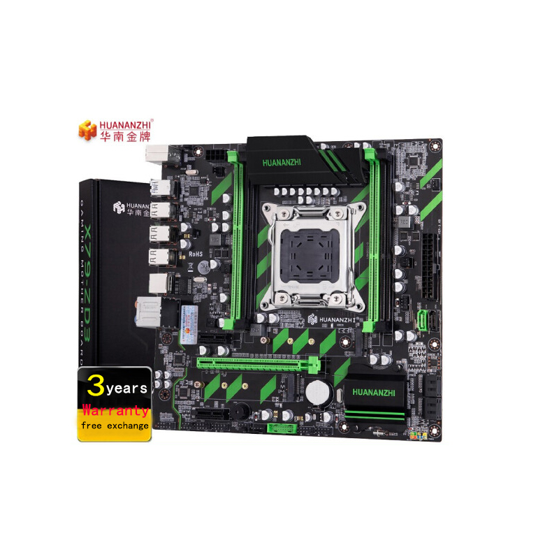 HUANANZHI X79 carte mère X79 LGA2011 ATX SATA3 USB3.0 double PCI-E 16X NVME M.2 SSD support REG ECC RAM Xeon E5 CPU