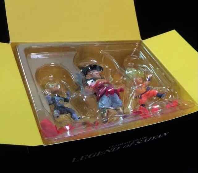 3 peças/set Dragon Ball Z Vegeta Goku Anime Action Figure PVC Nova Coleção figuras de Coleta de brinquedos para presente de Natal
