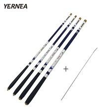 Yernea 99% Carbon Fishing Rod Fiber Ultra-Light Carp Telescopic Pole 3.6M 4.5M 5.4M 6.3M +1 Spare Top Tips