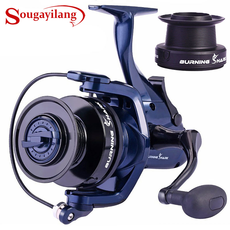 Sougayilang 13+1BB Carp Fishing Reel Spinning Reel with 2 Kinds Spool Wheels Right/Left Handle Casting Sea Fishing Reel De Pesca