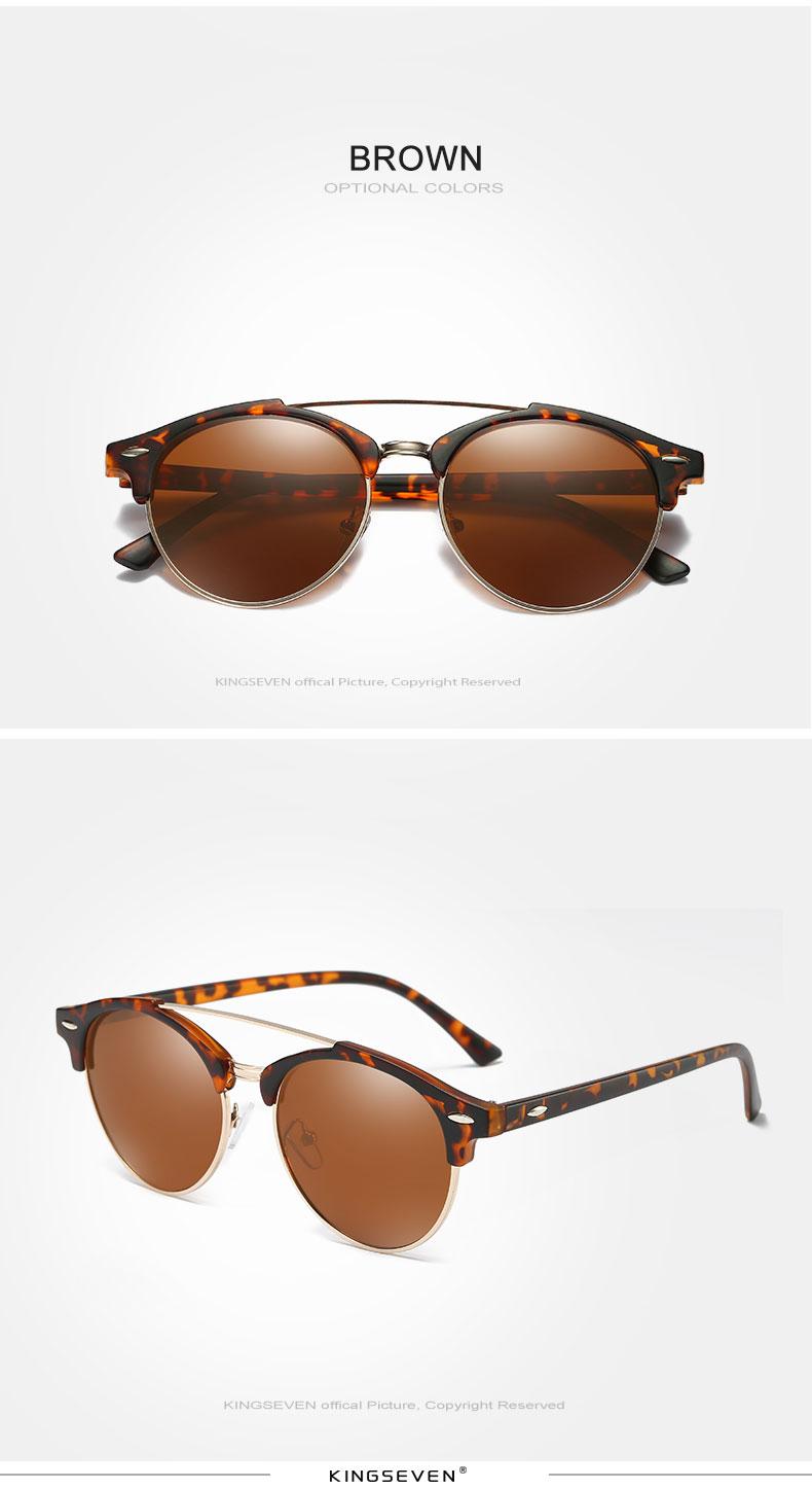 17 KINGSEVEN Retro Rivet Polarized Sunglasses Women Classic Brand Designer Sun glasses Eyewear Bridge Frame Oculos Gafas N7346 9