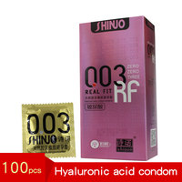 100pcs Condom Ultra thin 0.03 Hyaluronic Acid Safety Male Sex Special purpose Long lasting Student Liquid Trumpet Female