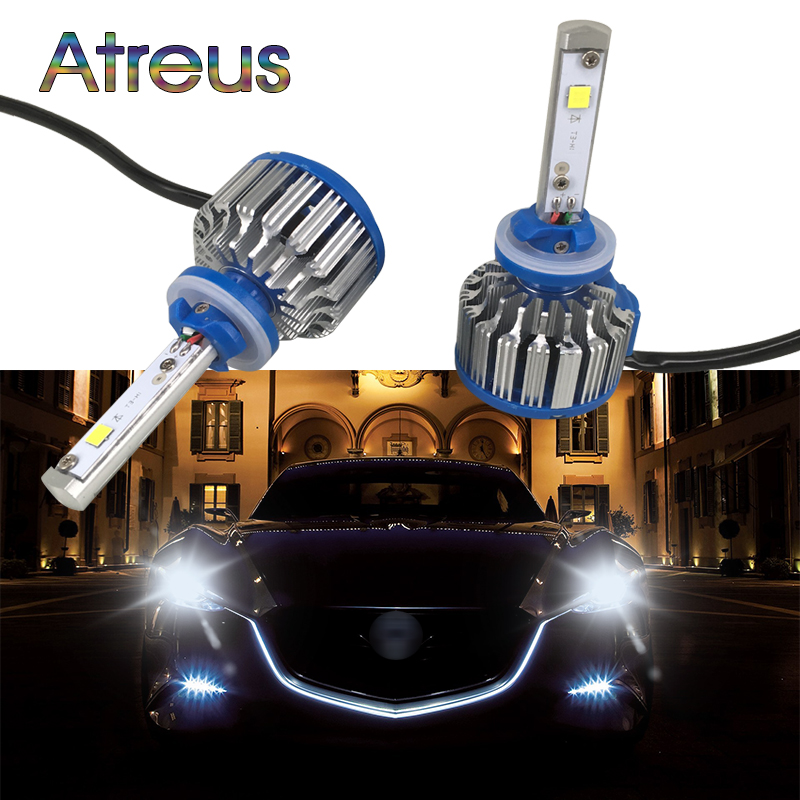 Atreus H1 880 881 H3 LED Car Headlight For Ford focus 2 3 Toyota corolla Mazda 3 6 accessories 70W 7000LM Driving Fog Head Lamp
