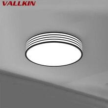 Черный круглый светодиодный потолочный светильник для спальни, простой современный домашний креативный светильник, лампа для кабинета, светильник s