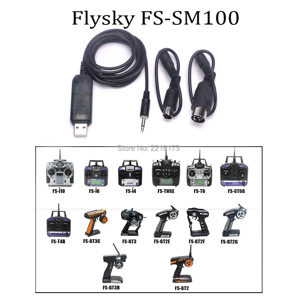 цены Flysky FS-SM100 SM100 RC USB Flight Simulator With FMS Cable Helicopter Controller 2.4G for FS-TH9X FS-T6 FS-I6 FS-I10
