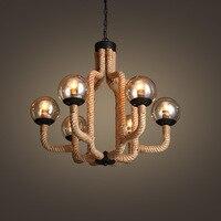 LED rope hanging lights loft chandelier restaurant suspended lamp living room lighting fixtures retro deco suspension luminaires