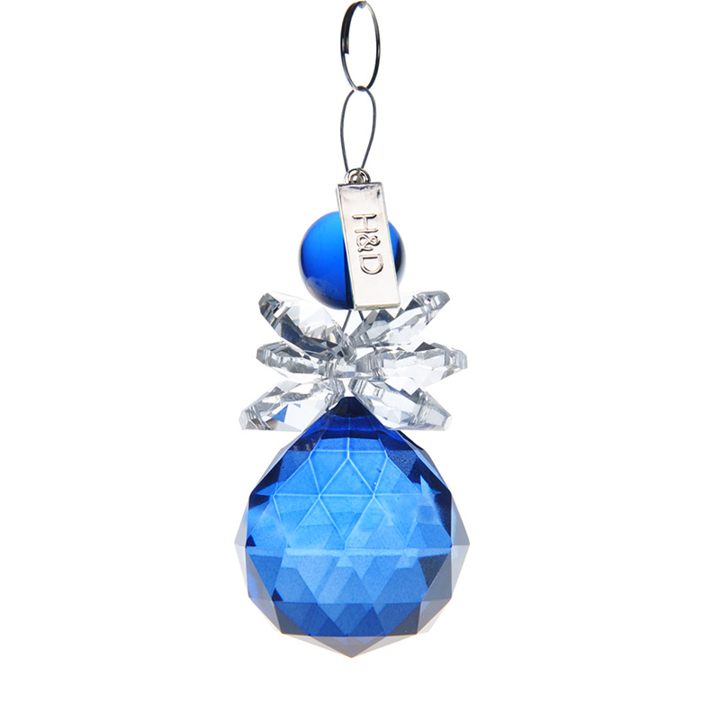 Crystal Suncatcher Hanging Pendant Angel Handmade Ornament Rainbow Maker Handmade Glass Crystal Prism Ball Window Pendant