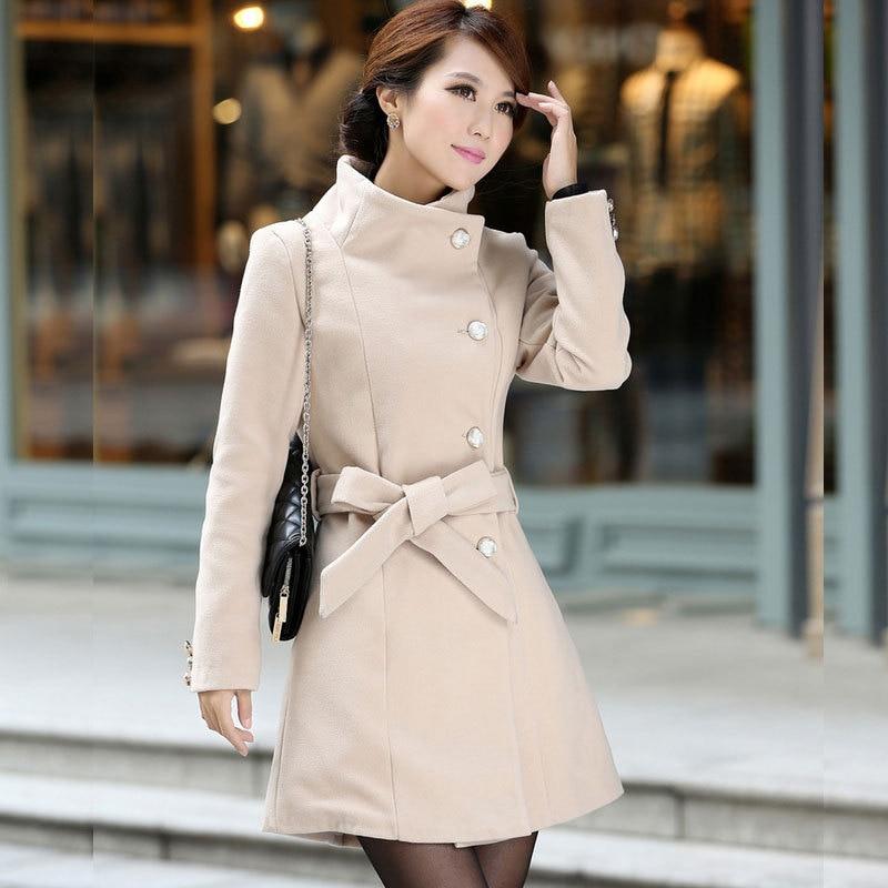 mejor servicio 23167 96346 Nuevo 2015 mujeres abrigos de lana para mujer chaquetas de ...