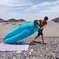 Mobiliário Sofá Inflável Óssea Rede de praia Ao Ar Livre Portátil Saco de Dormir Saco De Dormir De Camping Cama De Ar Nylon LazyBed EJ878786