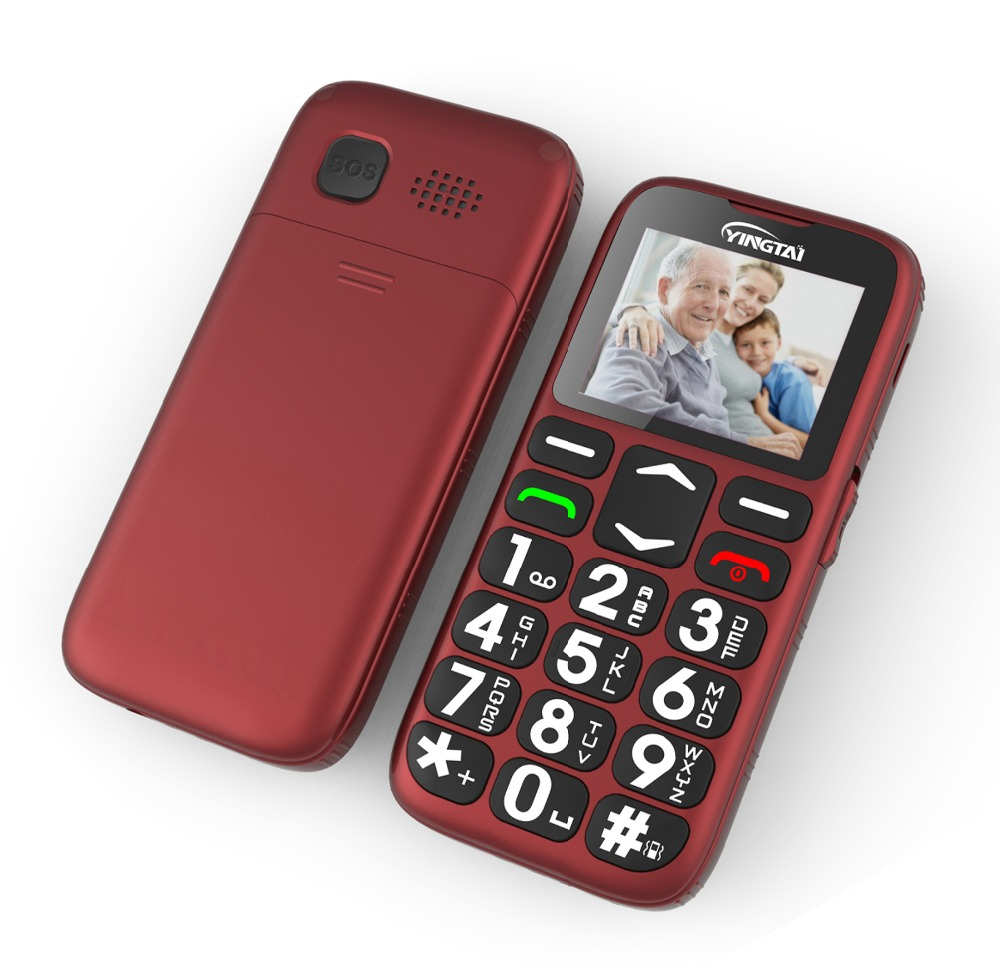 2020 YINGTAIT19 Senior Feature Mobile Phone For Old Man NoCamera GSM Big Push Button SOS FM Elder Cell Phone Bar MTK With Cradle