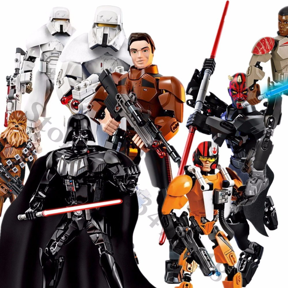 Star Super hero Wars Han Solo Range Trooper Darth Maul Darth Vader Commander Cody K-2SO Scarif Legoings Model Building blocks 1pc building blocks star wars figures luke skywalker kanan han solo death trooper darth vader action bricks kids diy gift toys