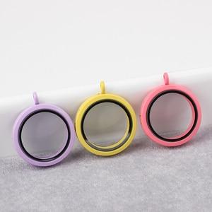 Image 2 - 10pcs/ lot Free shipping 30mm Round Colorful Floating Locket Glass Living memory locket Pendants Women Jewelry