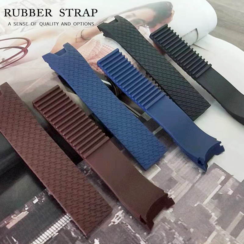 20x18mm Woman Black Brown Blue Waterproof Silicone Rubber Replacement Wrist Watch Band Strap Belt For Ulysse Nardin Watch Lady