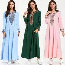 Kaftan Abaya musulmán árabe Islámico de Dubai de 2019, caftán marroquí del Oriente Medio, vestido de Indonesia, Túnica de Dubái informal de gran tamaño