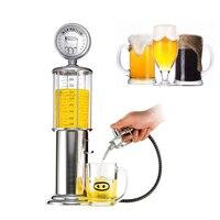 Hot Mini Bia Dispenser Máy Máy Uống Tàu Đôi Bơm Súng với Transparent Thiết Kế Hai Lớp Trạm Xăng Bar cho Uống Rượu