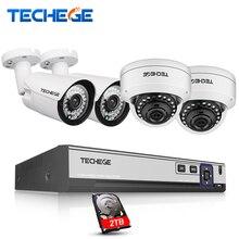 4CH 4 K 48 V POE NVR 4.0MP POE IP Kamera HI3516D OV4689 Vandalproof Dome cctv kamera 2592*1520 Video Güvenlik Gözetleme Sistemi