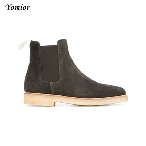 Image 3 - Handmade Luxury Brand Cow Leather Autumn Winter Men Boots Fashion Pointed Toe Wedding Chelsea Boots Vintage Motorcycle Boots