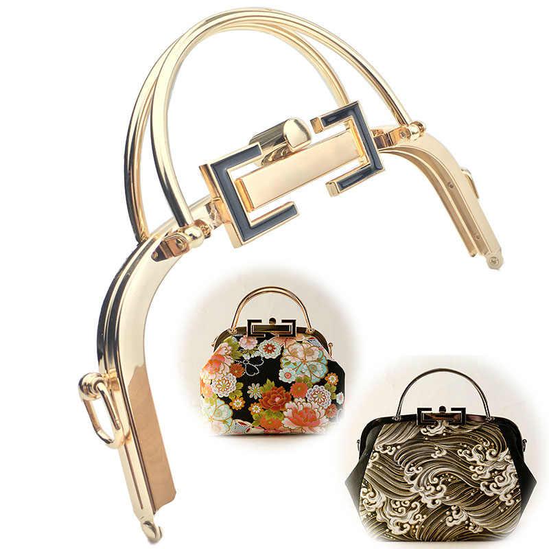 20,5 см новые женские ручки для bsg Рамка металлический кошелек рамка для сумки Глянцевая винтажная застежка заклепка DIY аксессуары для сумки