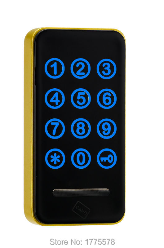 touch keypad RFID lock, Touch Keypad Password RFID Card Key Metal Digital Electronic Cabinet locker lock 118PW electronic password cabinet lock induction touch keypad password key lock digital electric cabinet coded locker