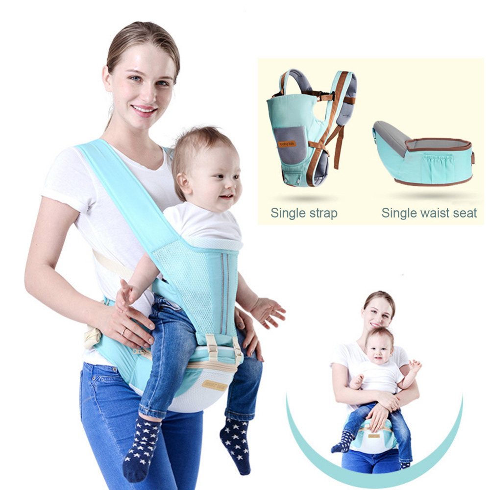 Baby Carrier Sling Breathable Baby Carriers Wrap Cotton Kid Infant Backpacks Carriers Sling For Newborns Hipseat Nursing Cover