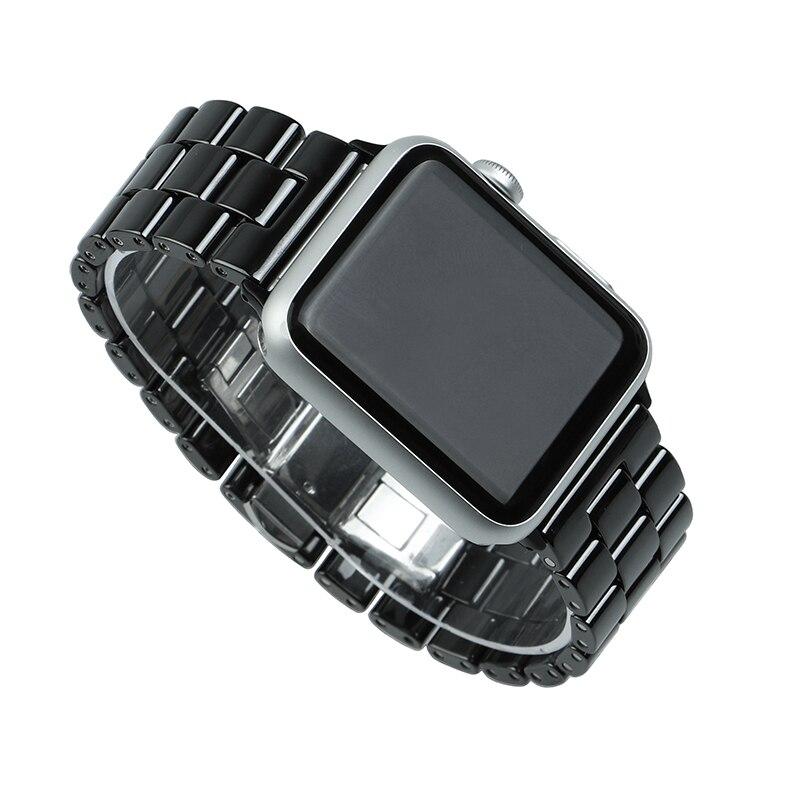 Correa de reloj de cerámica de 44 mm para Apple Watch 38 mm Reloj de - Accesorios para relojes - foto 5