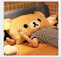 SST 65cm Cute Rilakkuma Large Bear Pillow Easily Single Pillow Cartoon Stuffed Pillow Can Unpick